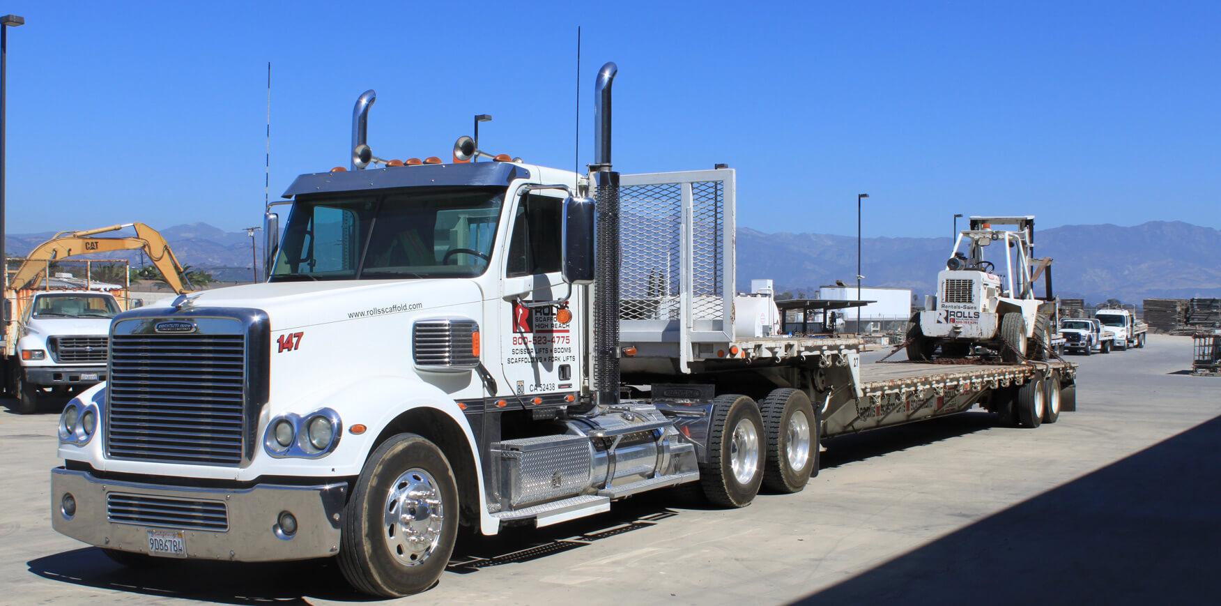 Rolls Scaffold Truck
